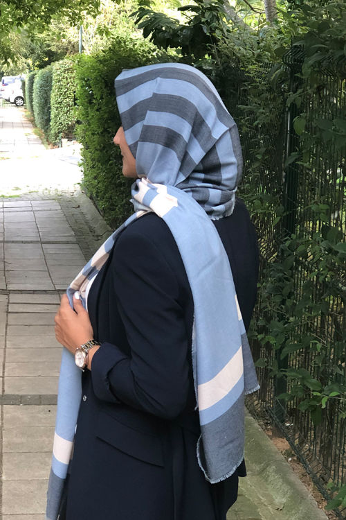 Mavi Helen Şal